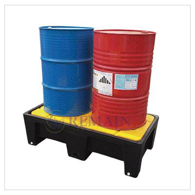 Pallet Plástico – Antiderrame Capacidad de almacenamiento 2 tambores
