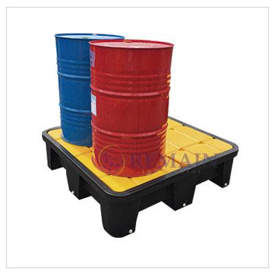 Pallet Plástico – Antiderrame Capacidad de almacenamiento 4 tambores
